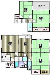 [一戸建] 大阪府和泉市弥生町2丁目 の賃貸【/】の間取り