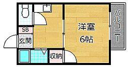 永村ハイツ[2階]の間取り