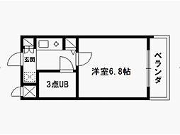 デトムワン西陣パート3[4階]の間取り
