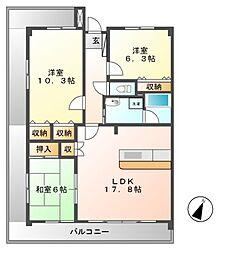 マーブル音羽館[4階]の間取り