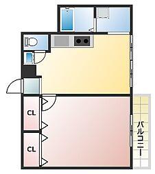 サンノール玉造[4階]の間取り