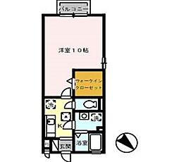 サニーガーデン B[101号室]の間取り