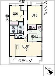 ベルマローネ千竹弐番館[3階]の間取り