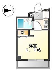 エツカ大曽根[3階]の間取り