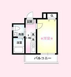 神奈川県横浜市中区大和町1丁目の賃貸アパートの間取り
