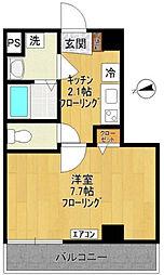 東京都調布市布田6丁目の賃貸マンションの間取り