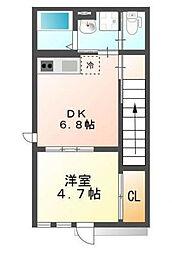 三田アパート[2階]の間取り