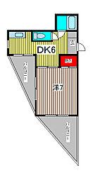 西青木コーポ[3階]の間取り