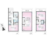 車庫なしプラン 建物面積:72.06m2 建物価格:1550万円