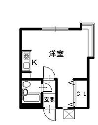 タジママンション[1階]の間取り