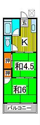 ヒロミコーポ[108号室]の間取り