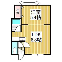 ブランドK9[102号室]の間取り