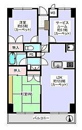 クレスト藤沢[7階]の間取り