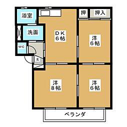 メゾンヴェールA[2階]の間取り