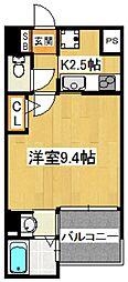 エスポワール本八幡[2階]の間取り