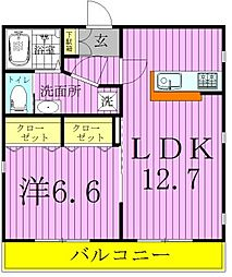 Sakura Plaza(サクラプラザ)[101号室]の間取り