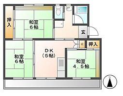 ビレッジハウス可児2号棟[5階]の間取り