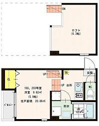 仮称)山科区東野舞台町・SKHコーポA号地[2階]の間取り