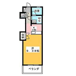 ウェーブHAMAJIRI[1階]の間取り