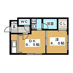 ブランノワール 発寒610[4階]の間取り