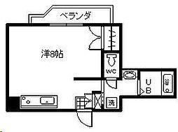 リバティハウス2[503号室]の間取り