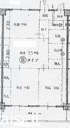 広島県廿日市市宮内の賃貸マンションの間取り