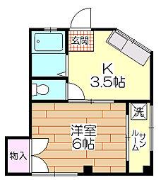 マルココーポ[2階]の間取り