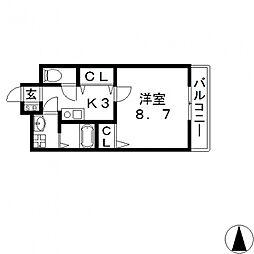 ヘーベルメゾンTANAKA[103号室号室]の間取り