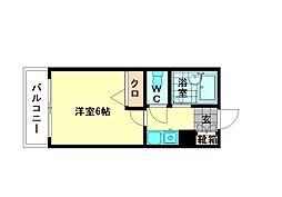 シャトー美野島[12階]の間取り