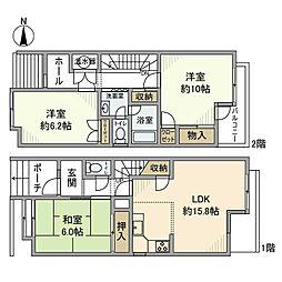 神奈川県厚木市下津古久の賃貸マンションの間取り