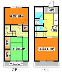 [テラスハウス] 東京都東久留米市八幡町2丁目 の賃貸【/】の間取り