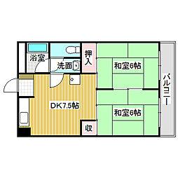 愛知県名古屋市中川区小本1丁目の賃貸マンションの間取り