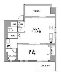 神奈川県横浜市中区末吉町1丁目の賃貸マンションの間取り