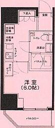 ルフレ プレミアム川崎 3階1Kの間取り