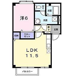 フラワーガーデン1[1階]の間取り