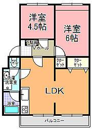 武田マンション[203号室]の間取り