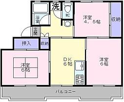 大阪府堺市西区浜寺石津町中3丁の賃貸マンションの間取り