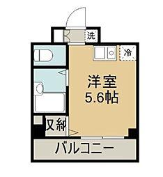 ラフィネ横須賀中央[703号室]の間取り