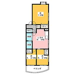 M's Agio[2階]の間取り