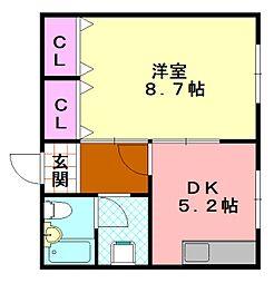 マンション太平8号館[407号室]の間取り