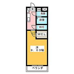 S-FORT鈴鹿(エスフォート鈴鹿)[2階]の間取り