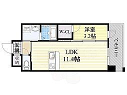 PHOENIX Clove Tomoi 8階1LDKの間取り