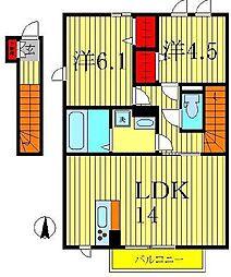 アマセネルA[2階]の間取り