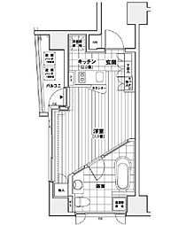 東京都中央区銀座1丁目の賃貸マンションの間取り