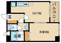 兵庫県姫路市亀井町の賃貸マンションの間取り