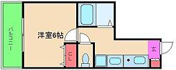 エイペックス天神橋I[4階]の間取り