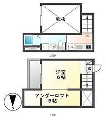 Cielo verde(シエロ・ヴェルデ)[2階]の間取り