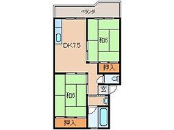 フェリースマンション[4階]の間取り