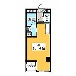 シャトーヨサミ[5階]の間取り