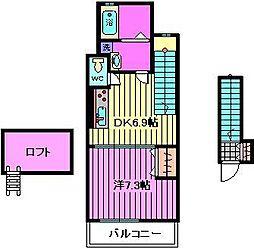 ヴィレッジフィールド彩[2階]の間取り